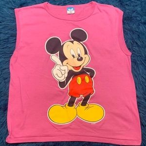 Vintage Mickey Mouse cut off tee